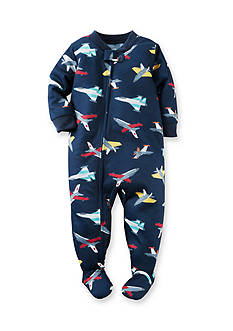 Carter's Plane Pattern Footed Pajamas Toddler Boys