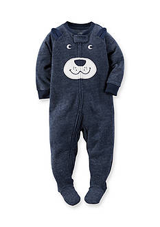 Carter's Toddler 1-Piece Bear Face Fleece Footed Pajamas