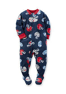 Carter's Toddler 1-Piece Football Fleece Footed Pajamas