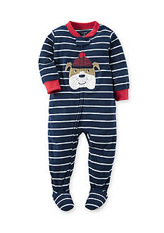 Carter's Toddler 1-Piece Dog Fleece Footed Pajamas