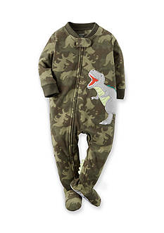Carter's Toddler 1-Piece Dinosaur Camo Fleece Footed Pajamas