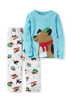 Carter's Toddler 2-Piece Skiing Dogs Fleece Pajamas