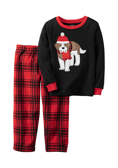 Carter's® Toddler 2-Piece Christmas Puppy Fleece Pajamas
