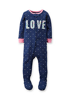 Carter's® 'Love' Sleep and Play Toddler Girls