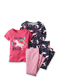 Carter's® 4-Piece Unicorn Stripe Pajama Set Toddler Girls