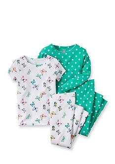 Carter's® 4-Piece Butterfly Dot Pajama Set Toddler Girls
