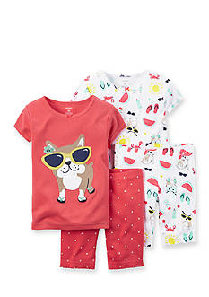 Carter's® 4-Piece Summer Dog Pajama Set Toddler Girls