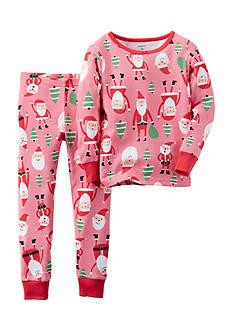 Carter's 2-Piece Cotton Santa Pajamas Toddler Girls
