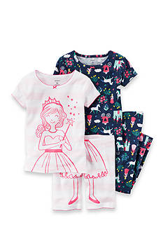 Carter's 4-Piece Princess Pajama Set Toddler Girls