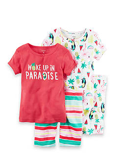 Carter's 4-Piece Snug Fit Cotton PJs Toddler Girls