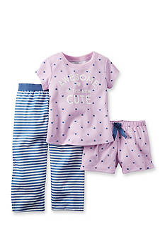 Carter's® 3-Piece 'Awesome is the New Cute' Pajama Set Toddler Girls
