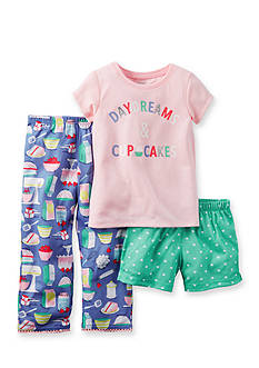 Carter's® 3-Piece 'Daydreams and Cupcakes' Pajama Set Toddler Girls