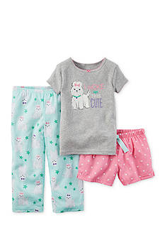 Carter's® 3-Piece 'I Woke Up This Cute' Dog Pajama Set Toddler Girls