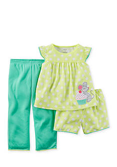 Carter's® 3-Piece Mouse Polka Dot Pajama Set Toddler Girls