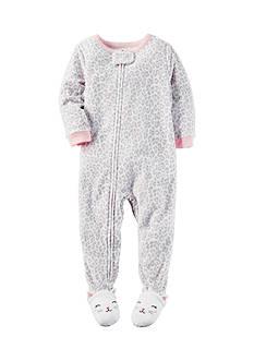 Carter's 1-Piece Animal Print Footed Pajamas Toddler Girls