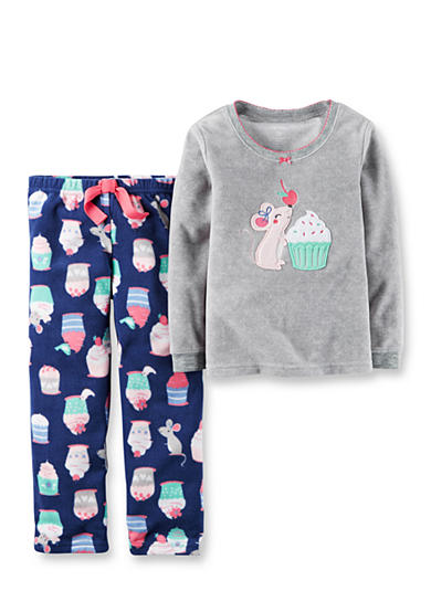 Carter's® 2-Piece Cotton & Microfleece Pajamas Toddler Girls