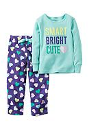 Carter's® Toddler 2-Piece Heart Fleece Pajamas
