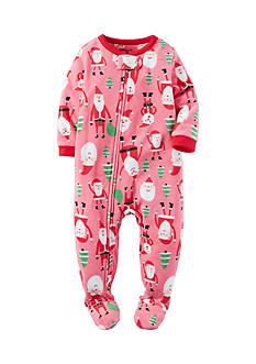Carter's 1-Piece Santa Fleece Pajamas Toddler Girls