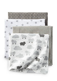 Carter's 4 Pack Gray Sheep Cloud Blanket Set
