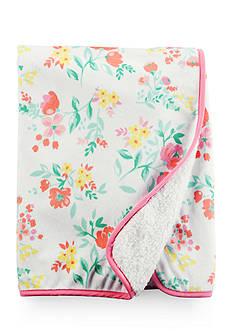 Carter's Floral Pink Trim Blanket