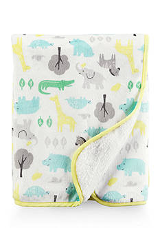 Carter's Safari Animal Yellow Blanket