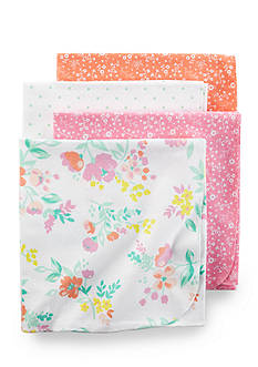 Carter's 4 Pack Pink Floral Blanket Set