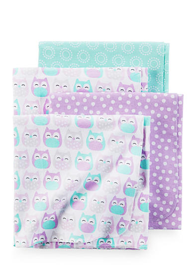Carter's® 4 Pack Purple Owl Blanket Set