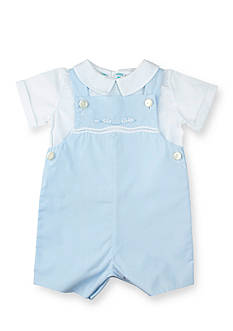 Feltman Brothers 2-Piece Shortall with Appliqued Train