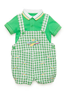 Nursery Rhyme® 2-Piece Shirt and Airplane Shortalls Set