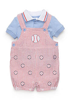 Nursery Rhyme® 2-Piece Baseball Shortalls Set