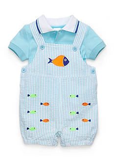 Nursery Rhyme® 2-Piece Fish Shortalls Set