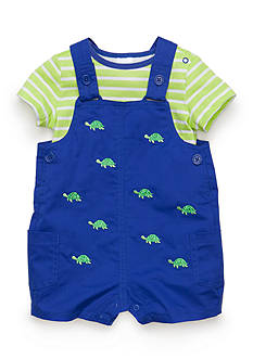 Nursery Rhyme® 2-Piece Turtle Shortall Set