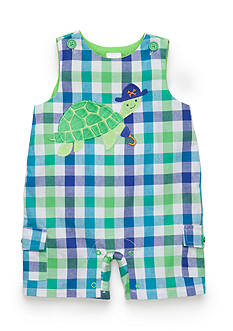 Nursery Rhyme® Plaid Turtle Shortalls