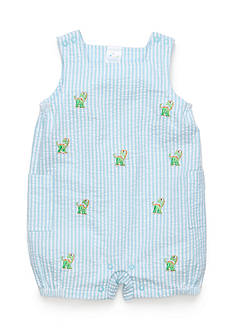 Nursery Rhyme® Seersucker Dinosaur Sunsuit