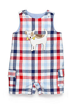 Nursery Rhyme® Plaid Dog Shortalls