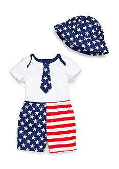 Nursery Rhyme® 3-Piece American Flag Shorts Set