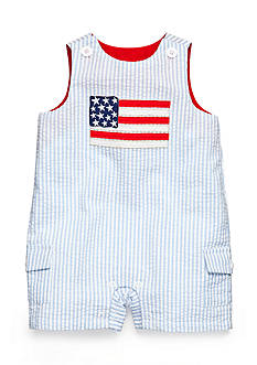 Nursery Rhyme® Seersucker Flag Sunsuit