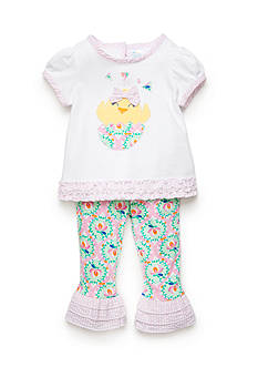 Nursery Rhyme® 2-Piece Chick Top and Floral Capri Pants Set