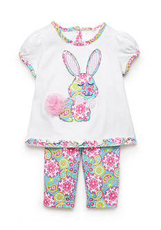 Nursery Rhyme® 2-Piece Bunny Top and Capri Pants Set