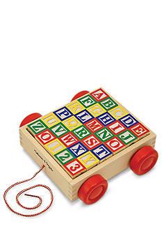 Melissa & Doug Alphabet Block Cart Set