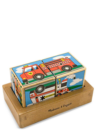 Melissa & Doug® Wooden Vehicle Sand Blocks