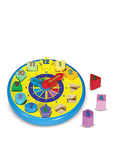 Melissa & Doug Shape Sorting Clock - Online Only