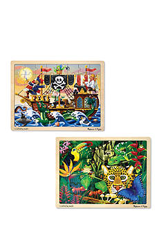 Melissa & Doug® Jigsaw 2-Puzzle Bundle