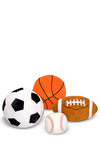 Melissa & Doug® 4-Pack Plush Sports Balls