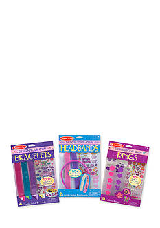 Melissa & Doug® DYO Accessories Bundle- Bracelets, Headbands & Rings