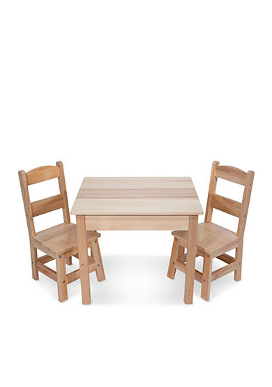 Melissa & Doug® Wooden Table and Chairs - Online Only