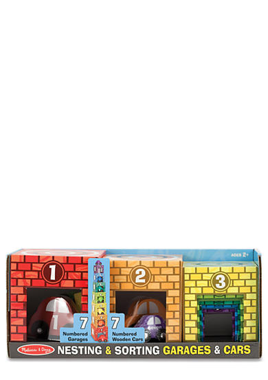 Melissa & Doug® Nesting and Stacking Garage and Cars Set