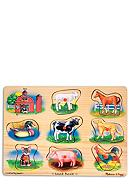 Melissa & Doug® Wooden Farm Sound Puzzle