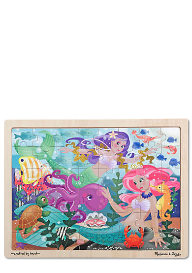 Melissa & Doug® 48-Piece Mermaid Fantasea Wooden Jigsaw Puzzle - Online Only
