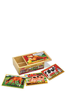 Melissa & Doug® Farm Animals Puzzles in a Box - Online Only
